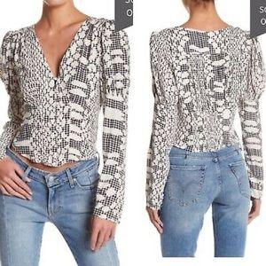 NEW Free People 'Sweet on You' Printed Top